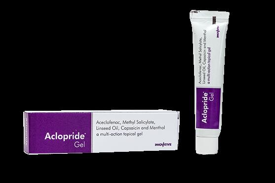 Aclopride- Aceclofenac Linseed Oil Methyl Salicylate Menthol Capsaicin Gel