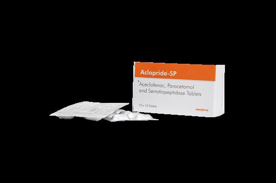 Aclopride-SP -Aceclofenac -Paracetamol - SerratiopeptidaseTablets