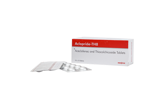 Aclopride-TH8 -Aceclofenac- Thiocolchicoside Tablets