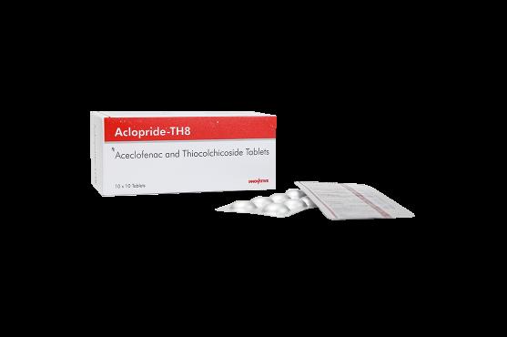 Aclopride-TH8 -Aceclofenac - Thiocolchicoside Tablets