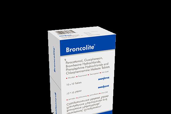Broncolite -Phenylephrine, Bromhexine, Chlorpheniramine, Guaiphenesin & Paracetamol Tablets