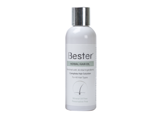 Bester Herbal Hair Oil bottle